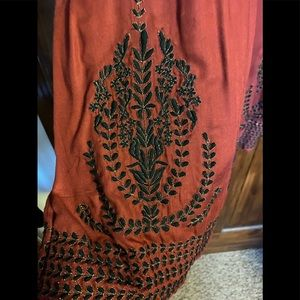 Gold Embroidered Zara Tunic/Dress